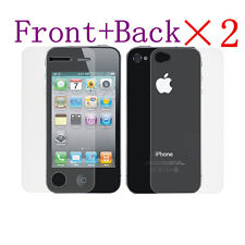 4 Pcs=2 x (Front+Back) Anti-Glare Matte Screen Protector Guard For iPhone 4 4S