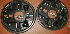 GM Brake Backing Plate Rear  Pair, 18013076, 18013077  Regal, Monte, Camaro OEM