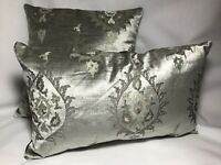 Mayfair Floral Embroidered Mink 43cm x 43cm Reverse Suede Cushion Cover Only