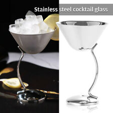 304 Stainless Steel Wine Glass Goblet Red Wine Cocktail Metal Drinking Cup NEW