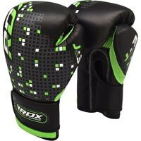 RDX Kids Boxing Gloves For Training & Muay Thai Maya Hide Leather Mitts Sparring