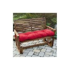 Padded Patio Bench Cushion Red For Outdoor Seating Glider Replacement Padding