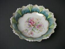"Vintage Decorative Floral Bowl - Porcelain - 8 1/2"" wide - h mgo"