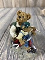 Boyds Bearstone #2277944 Daddy w// Taylor...Hold On  2nd Ed NIB from Retail Store
