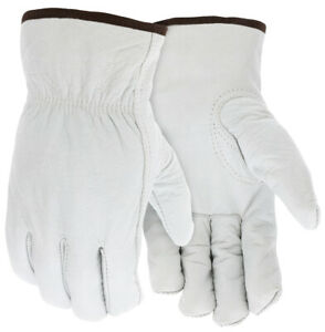 MCR Safety 3313T Buffalo Leather Drivers Gloves, 100g Thinsulate, 12 Pair, M-XL