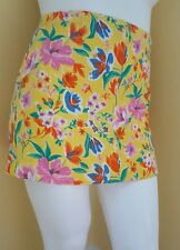 Vintage 1990's Tommy Hilfiger Skirt Bright Yellow Floral Print Size 14 Flower