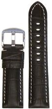 22mm Panatime Choco Leather Watch Band w/Gator Print & White Stitch 125/75 22/20