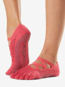 TOESOX ELLE FULL TOE 'HERMOSA' YOGA/ PILATES/ DANCE/ GRIP SOCKS- SMALL