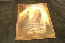 Lord Of The Rings Fellowship Of The Ring Oscar ad with Ian McKellen as Gandalf