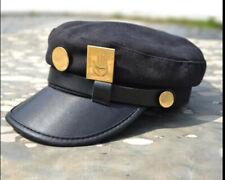 Anime JOJO'S BIZARRE Kujo Jotaro Men's Cosplay Military Hat Army Flat Cap+Badge