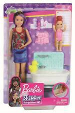 Mattel - Barbie Skipper - Puppen und Badewanne - Bad Kind Babysitter Möbel Puppe