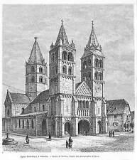 GEBWILLER EGLISE SAINT-LEGER DESSIN DE BARCLAY GRAVURE ENGRAVING 1888