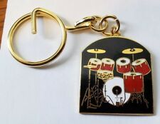 DRUM SET  KEYCHAIN key chain red on black CLEARANCE