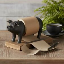 Novelty Pig Toilet Roll Holder Resin with Metallic Effect Ex Clearance