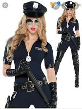 Stop Traffic Policewoman Jumpsuit Costume Halloween Size Small