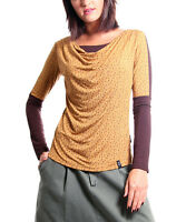 Long Sleeved T-Shirt Size 8 Ladies Womens Mustard Yellow Top