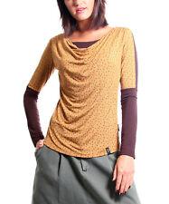 #820 Femmes Designer Taille UK 10 Freud moutarde Badu Haut à Manches Longues RRP £ 39.99