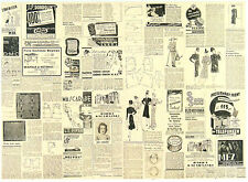 A/4 Classic Decoupage Paper Scrapbook Sheet Vintage Old News