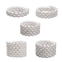 Frauen Chic Perle Strass Stretch-Armband Für Braut Hochzeit Prom