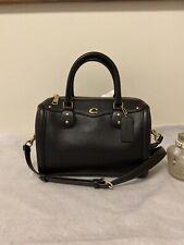 COACH F37862 Ivie Bennett Leather Satchel Crossbody Bag Black