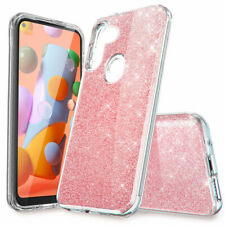 For Samsung Galaxy A11 A21 Case Glitter Bling Hybrid Shockproof TPU Phone Cover