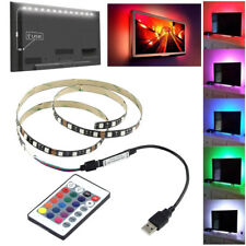 5V 5050 RGB 60SMD/M LED Strip Lights Bar TV Back Lighting Kit+USB 24 Key Remote
