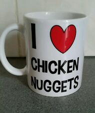 I LOVE HEART CHICKEN NUGGETS MUG NOVELTY GIFT PRESENT CUP 091