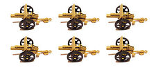 6 Pcs Army Desert Cannons with Moving wheels