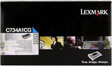 ORIGINAL LEXMARK tóner C734A1CG CIAN C734 C736 X734 X736 X738 NUEVO D
