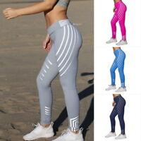 Damen Laufhose Fitness YOGA Gym Leggins Trainingshosen Legging Stretch Sporthose