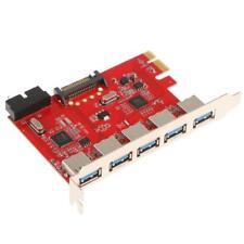PCI-E vers USB 3.0 5-Port PCI Express Carte d'Expension avec 20 pin pour