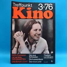 Treffpunkt Kino 3/1976 Libuse Safrankova Liv Ullmann Max von Sydow Henry Fonda