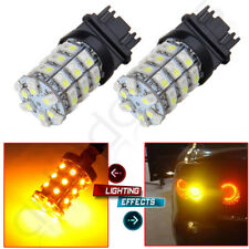 2X 3157 60Smd Dual Color Switchback White Amber Turn Signal Led Light Bulbs 3057 (Fits: Neon)