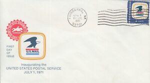 1971 #1396 7/1/71 USPS EMBLEM FDC FAIRBANKS AK UNADDRESSED GEM!