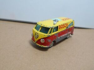 TEKNO OF DENMARK   VOLKSWAGEN  BOSCH VAN YELLOW RED  SPLIT WINDSCREEN   VINTAGE
