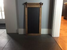 Handcrafted Rustic Wall Hanging Chalkboard with Hand-Forged Hooks Made in USA