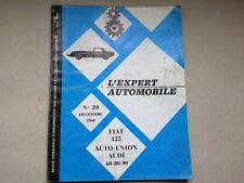 REVUE TECHNIQUE  N° 39   - FIAT 125  AUTO UNION AUDI 60 80 90   - 1968  *