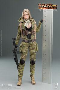 """1/12 VERYCOOL Treasure Series MC Camouflage Villa Female 6""""toys  Figure"""