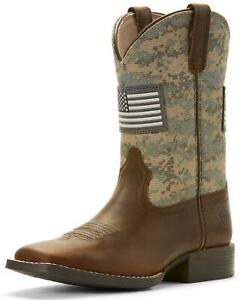 Ariat Boys' Patriot American Flag Western Boot Wide Square Toe - 10027279
