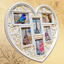 6 Photos Large Photo Frame Hanging Heart Shaped Multi Picture Love Frames UK