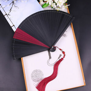 2019 Bamboo Hollow Japanese Style Antique Men Women Folding Fan Handmade Dance