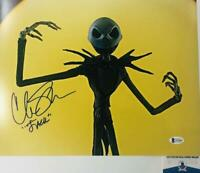 Chris Sarandon signed Jack Skellington 11X14 photo BAS COA WAO4891