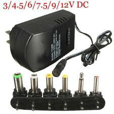 Universal Power Supply Adapter Converter AC DC 30W 3V 4.5V 5V 6V 7.5V 9V 12V 3A