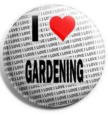 I Love Gartenarbeit Anstecker 7.6cm 75mm - Geschenk - Geburtstag - Strumpf