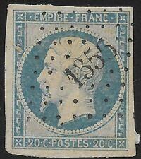 France-N°14A oblitéré petit chiffre 1356 de Gacé Orne