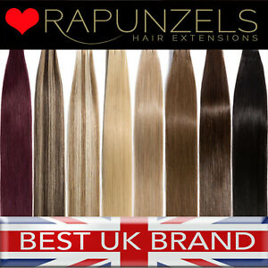 Rapunzels UK Sew In Hair Weft Weaving Extensions Remy Human Hair 110g 16""