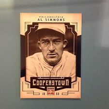 AL SIMMONS #2 PHILLIES 02/25 MADE Blue Parallel 2015 PANINI COOPERSTOWN HOF