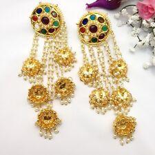 Bollywood Indio Asiático nupcial Joyas Pendientes de desgaste de boda fiesta étnica