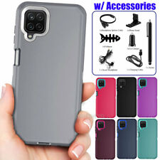 For Samsung Galaxy A12 4G/5G Rugged Armor Shockproof Protective Phone Case Cover