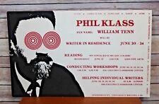 Vintage 70's Phil Klass William Tenn Uw-Sp University Poster Sci Fi Ufo Pop Art